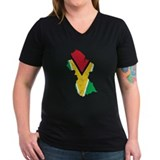 Guyana Flag And Map Shirt