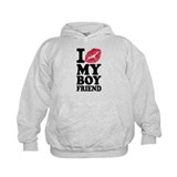 I love my boyfriend kiss Hoody