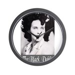 The Black Dahlia Wall Clock