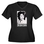 The Black Dahlia Women's Plus Size V-Neck Dark T-S