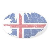 Iceland Flag And Map Decal