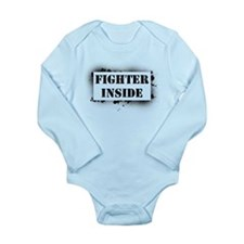 Fighter Inside Long Sleeve Infant Bodysuit