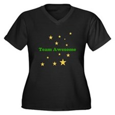 Team Awesome is magical Women's Plus Size V-Neck D