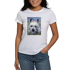 Westie with Flowers Women's T-Shirt