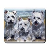 Three Westies Mousepad