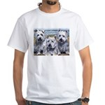 Three Westies White T-Shirt