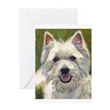 Happy Westie Greeting Card