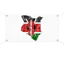 Kenya Flag And Map Banner