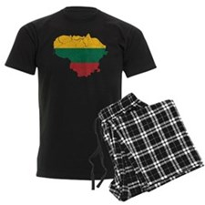 Lithuania Flag And Map pajamas