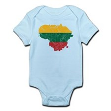 Lithuania Flag And Map Infant Bodysuit