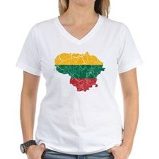 Lithuania Flag And Map Shirt