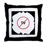 No TV Throw Pillow