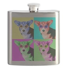 Welsh Corgi Star Flask
