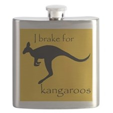 I Brake for Kangaroos Flask