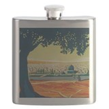 Vintage Palestine Travel Poster Detail Flask