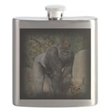 Silver Back Gorilla Flask