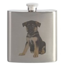 German Shepherd Picture - Flask