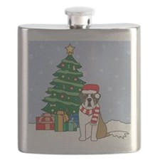 St Bernard Christmas Flask