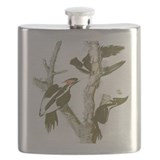 IVORY BILLED WOODPECKERS Flask