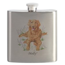 "Golden Retriever ""Molly"" Pillow"