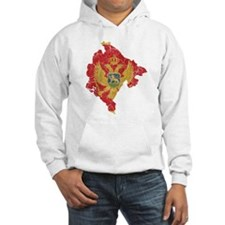 Montenegro Flag And Map Hoodie
