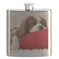 SLEEPING SPANIEL PUPPY Flask