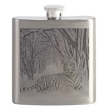 Cute White tiger Flask
