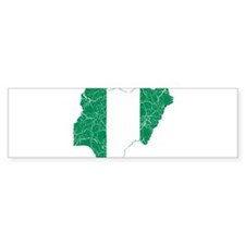 Nigeria Flag And Map Bumper Sticker