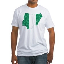 Nigeria Flag And Map Shirt