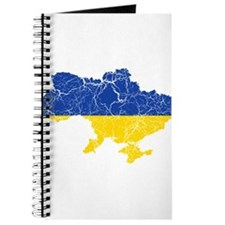 Ukraine Flag And Map Journal