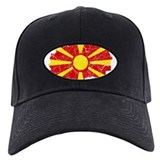 Macedonia Flag And Map Baseball Hat