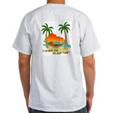 Living on Island Time Ash Grey T-Shirt