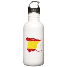 Spain Flag And Map Water Bottle