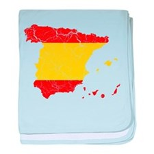Spain Flag And Map baby blanket