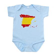 Spain Flag And Map Infant Bodysuit