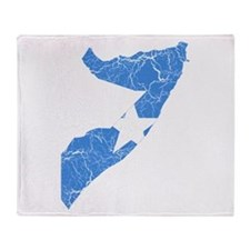 Somalia Flag And Map Throw Blanket