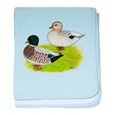 Snowy Call Ducks baby blanket