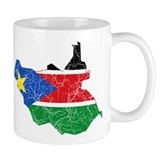 South Sudan Flag And Map Coffee Mug