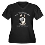 Man's Best Friend Women's Plus Size V-Neck Dark T-