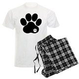 Double Paw Print pajamas