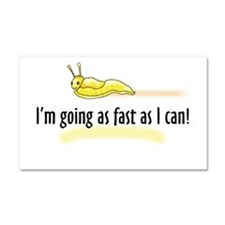 as fast as I can Car Magnet 20 x 12