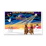 XmasSunrise/2 Airedales Rectangle Car Magnet