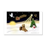 Night Flight/Airedale #5 Car Magnet 20 x 12