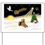 Night Flight/Airedale #5 Yard Sign