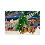 XmasMagic/Airedale Rectangle Magnet
