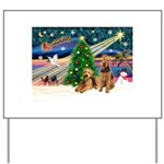 XmasMagic/Airedale Yard Sign