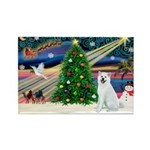Xmas Magic & Akita Rectangle Magnet (10 pack)