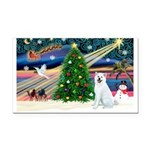 Xmas Magic & Akita Rectangle Car Magnet