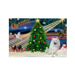 XmasMagic/Eskimo Spitz Rectangle Magnet
