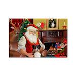 Santa's Tri Aussie (#7) Rectangle Magnet (10 pack)